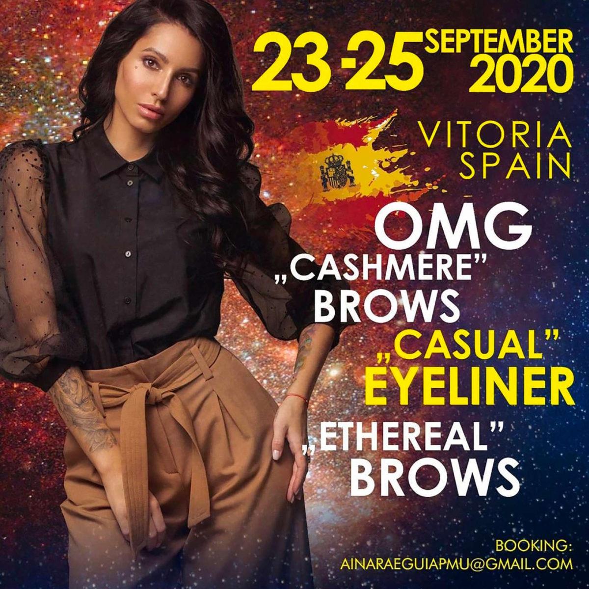 Cashmere Brows Casual Eyeliner y Ethereal con Oksana Martynenko ainara eguia micropigmentacion bilbao vitoria lekeitio madrid