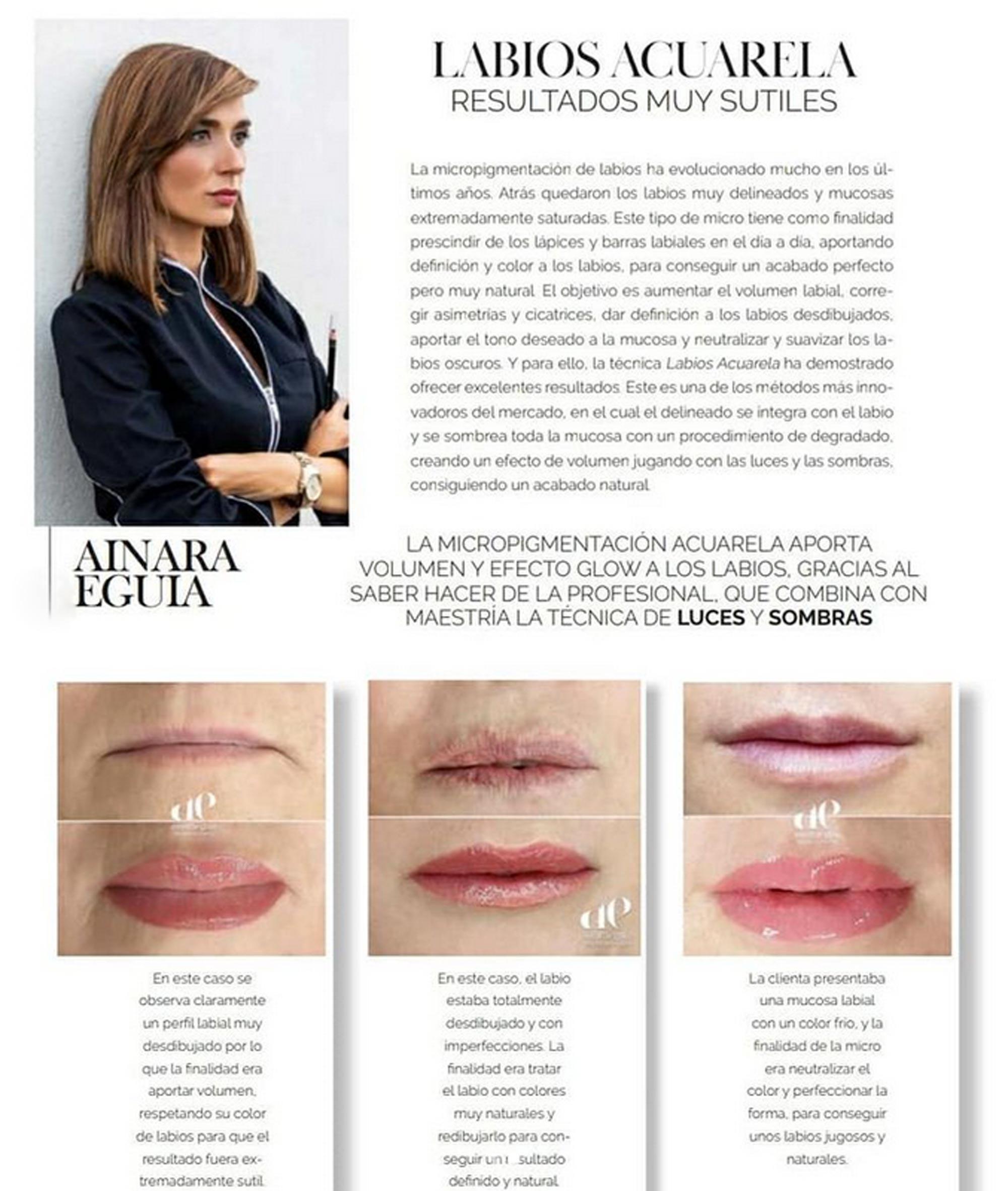 ainara eguia revista nueva estetica micropigmentacion microblanding softap formaciones cejas ojos labios capilar cicatrices bilbao